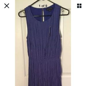 NET Size Med Maxi Dress Banana Republic Blue SL/LS